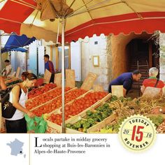 Locals partake in midday grocery shopping at Buis-les-Baronnies in Alpes-de-Haute-Provence. A Year in France 2017: http://ift.tt/2eCtB2P #travel #AYearInFrance #FranceTravel #InstaTravel #Wanderlust #TravelGram #BestoftheDay #Instagood #Traveling #Vacation #igtravel #instatravel