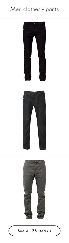 """Men clothes - pants"" by nika-love ❤ liked on Polyvore featuring jeans, men, pants, bottoms, guy, black skinny jeans, black jeans, tiger of sweden, mens and men's clothing"