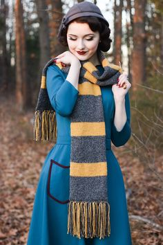 Newt Scamander Hufflepuff Scarf by TheMadGirlShop on Etsy