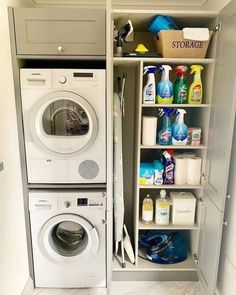 """Exceptional """"laundry room storage diy"""" information is offered on our website. Take a look and you wont be sorry you did. Small Utility Room, Utility Room Storage, Utility Room Designs, Small Laundry Rooms, Laundry Room Organization, Bedroom Storage, Storage Stairs, Laundry Organizer, Garage Storage"""