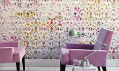 by Élitis  'Brit Pop' by Élitis is a delightful vinyl wallpaper featuring flowery silk shapes infused with dispersed inks  click here if you wish to order samples  extra wide roll offers exceptional value easy paste the wall applicationpattern repeat 36 in roll 39 in wide, 33 ft long coverage 105 sq. ft.