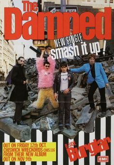 """Promo poster for the release of the """"Smash It Up"""" single. Pop Posters, Band Posters, Music Posters, The Adicts, Poster Boys, Gig Poster, 80s Punk, The Cramps, The New Wave"""