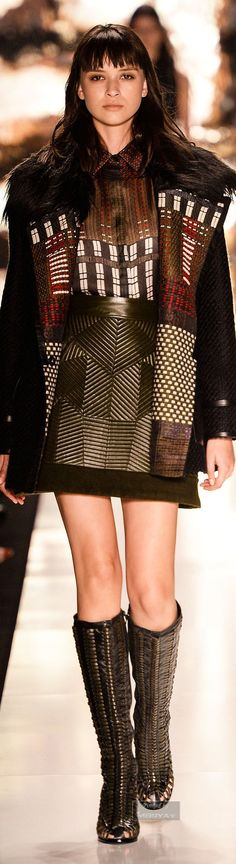 Colcci Fall Winter 2015-2016 Collection ~ Rich patterns & textures.