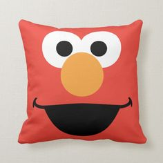 Shop Elmo Face Art Throw Pillow created by SesameStreet. Personalize it with photos & text or purchase as is! Custom Pillows, Decorative Pillows, Sesame Street Birthday, Diy Centerpieces, Big Bird, Goodie Bags, Elmo, Face Art, Nursery Art