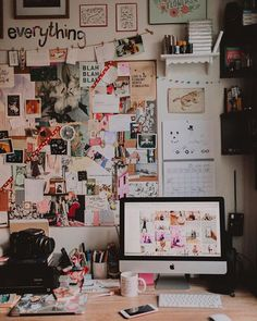 Another shot of my workspace Check out my feature on Planoly to read me rambling about feelings and photography College Walls, College Dorm Rooms, Dream Rooms, Dream Bedroom, My New Room, My Room, Room Goals, Aesthetic Rooms, Dorm Decorations