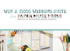 Win a $1000 Wedding Suite from Paper Muse Press