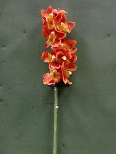 Tanday Orange  Cymbidium Orchid Silk Spray 88014.$19.99, shipping $3.95 to US, $6.95 to Japan.