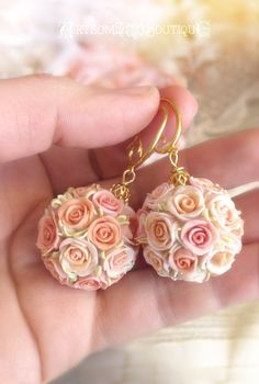 Kissing Ball Earrings Set Handmade Pomander by ArtsomeBoutique