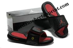 fa7c63849c9a7e Cheap Air Jordans 14 Massage Slippers Black Red Cool Jordans