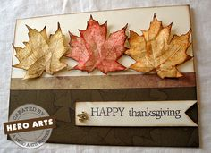 Thanksgiving Card...something I've never done was give out Thanksgiving day Cards!   But I'm loving the craft of this card..