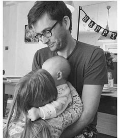 David Tennant and his daughters ♡