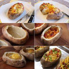 Como rellenar una patata asada.