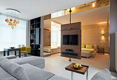 Ремонт студии Living Room Partition, Room Partition Designs, Living Room Tv, Tv Stand Designs, Luxurious Bedrooms, Apartment Design, Small Apartments, Bedroom Decor, House Design