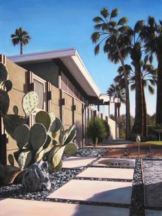 Twin Palms Pathway by Danny Heller #midcenturymodern #palmsprings