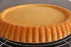 Biskuitboden für Torten und Kuchen Sponge cake for pies and cakes (recipe with picture) Easy Cake Recipes, Healthy Dessert Recipes, Healthy Baking, Pie Recipes, Baking Recipes, Cookie Desserts, No Bake Desserts, Cake Recipes With Pictures, Torte Au Chocolat