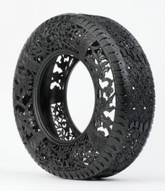 #Tire #Carvings  Beautiful patterns and designs carved into used car tires by Wim Delvoye.        Detailed carvings were made by hand using sharp knives. Belgian artist transforms new and recycled rubber tires into unique works of art.