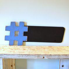 Hashtag Chalkboard 9x24  The Original  Twitter by gracegraffiti, $28.00