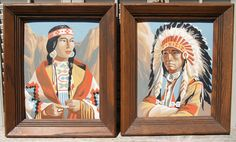 Vintage Native American Paint by Number Pair by BeachLaneVintage on Etsy