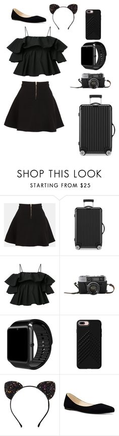 """Dark days"" by kaitlynk3 ❤ liked on Polyvore featuring Parker, Rimowa, MSGM, Rebecca Minkoff and Nine West"