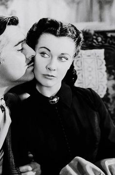 """Vivien Leigh and Clark Gable, """"Gone With The Wind"""", 1939."""