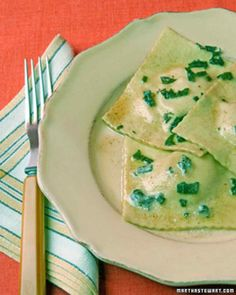 "Pumpkin Ravioli with Sage Brown Butter (can use wonton wrappers for the ""dough"")"