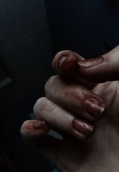 the blood under her nails wasn't her own.....
