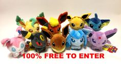 Win A Set Of 9 Japan Pokemon Center 2017 Eeveelution Pokedolls