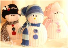 DIY No-Sew Sock Snowmen! by suzannejdean