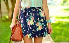Beautiful Floral Pattern Skirt