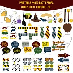 Instant Download Harry Potter Inspired Printable Photo Booth Prop Set — Amanda Keyt DIY Photo Booth Props & More!