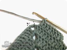 #뜨개질#코바늘#코바늘 도안보는법#crochet#DIY 도안출처 - http://media-cache-ec0.pinimg.com/origina...