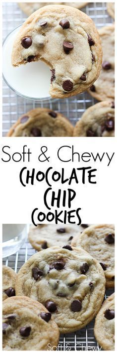 These Soft and Chewy Chocolate Chip Cookies are one of my top two favorite chocolate chip cookies. There are so many out there but trust me when I say this recipe is one of the best!