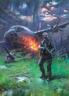 """""""Shit, seems I am the only one alive"""" Apocalypse Landscape, Apocalypse Art, Apocalypse Survival, Metro 2033, Mad Max, Cthulhu, Cyberpunk, Post Apocalyptic Art, Fallout"""