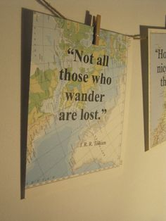 Vintage map prints, include quote of your choice, custom made, home or travel gift, ready to frame.. £4.00, via Etsy.