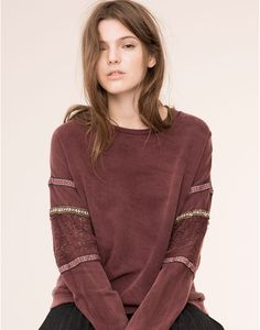 FADED SWEATSHIRT WITH ETHNIC RIBBON - NEW PRODUCTS - NEW PRODUCTS - PULL&BEAR Turkey