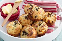 Savoury muffins with rosemary