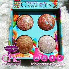 "0 Me gusta, 0 comentarios - CHICCOSMETICSGDL®️ (@chiccosmeticsgdl) en Instagram: ""🍬🍭Baked Pops 🍭🍬Beauty Creations ❤ #iluminador #iluminadores #highlights #highlightpalette…"" Beauty Creations, Make Up, Pop, Baking, Instagram, Frame, Decor, Makeup Lips, Picture Frame"