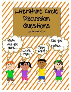 I am starting literature circles soon and can't wait!  These open-ended discussion questions work great to laminate for students to use over and over again with any text.  I love that they have to create each question by adding characters, problems, events, etc.!