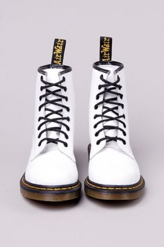 I've always wanted a pair of docs... Dr. Martens 1460 Women's White Smooth