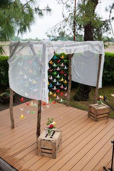 Organiser une cérémonie laïque dans son jardin !   Mademoiselle Dentelle