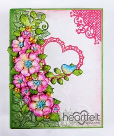 Heartfelt Creations | Birds And Blooms Flip Fold Album