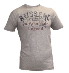 Vintage Tees: Washed C-Neck Summer Tee with Distressed Print – Light Grey Look 2015, American Legend, Vintage Tees, Grey, Summer, Mens Tops, Fashion, Mindful Gray, Moda