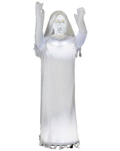 What age does this become acceptable decor at a kids Halloween party..LOL....I am so getting this!   Ghost Girl Animated Decoration
