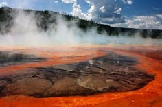 Hot Springs in Yellowstone National Park in Wyoming
