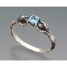 Two Mermaids Ring with Blue Topaz or Other Stone Size 3 to 9 ($48) ❤ liked on Polyvore featuring jewelry, rings, stone jewelry, blue topaz rings, blue topaz jewelry, christmas ring and christmas jewelry