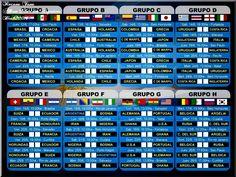 ●⋰● Selecciòn Argentina ~ Brasil 2014    EL FIXTURE BRASIL 2014