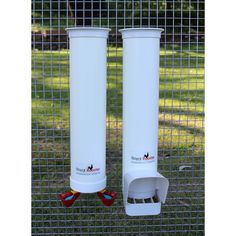 Drinker & Feeder Set - with Twin Cups & Rain Cover