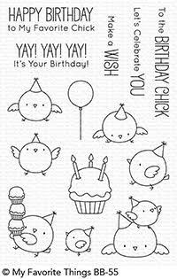 "MFT STAMPS: Birthday Chicks x Clear Photopolymer Stamp Set) This 14 piece set includes Birthday Chicks: Chicks 1 ¼"" x 1 ¼"" x 1 x x 1 1 x 1 x 1 ½"" x 1 Cupcake x 1 Balloon x 1 Sentiments ranging from 1 (Make a Wish) to 2 ½"" (T Birthday Doodle, Birthday Cards, It's Your Birthday, Birthday Posts, Birthday Message, Tampons Transparents, Colourful Balloons, Mft Stamps, Shaker Cards"