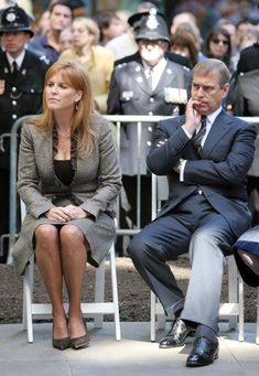 Sarah Ferguson, Duchess of York with Prince Andrew at the British Memorial Garden marking the fifth anniversary of the 9/11 terror attacks in Manhattan.