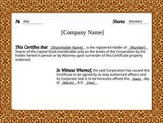 12+ Share Stock Certificate Templates   Free Word, PDF Format Download! |  Free